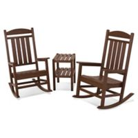 POLYWOOD® Presidential 3-Piece Rocker Set with Square Table in Mahogany