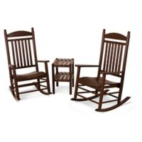 Polywood® Jefferson 3-Piece Rocker Set in Mahogany