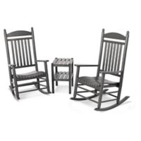 Polywood® Jefferson 3-Piece Rocker Set in Slate Grey
