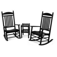 Polywood® Jefferson 3-Piece Rocker Set in Black