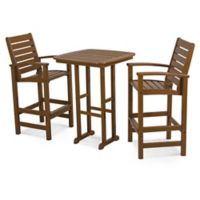 POLYWOOD® Signature 3-Piece Bar Set in Teak