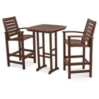 POLYWOOD® Signature 3-Piece Bar Set in Mahogany
