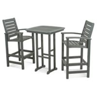 POLYWOOD® Signature 3-Piece Bar Set in Slate Grey