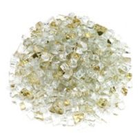 American Fireglass 10 lb. 0.5-Inch Reflective Fire Glass in Gold