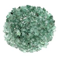 American Fireglass 10 lb. 0.5-Inch Reflective Fire Glass in Evergreen