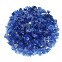 American Fireglass 10 lb. 0.5-Inch Reflective Fire Glass in Cobalt