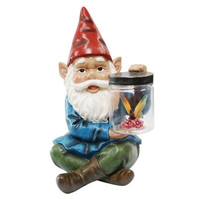 Gnome With Jar Solar Lighted Garden Décor