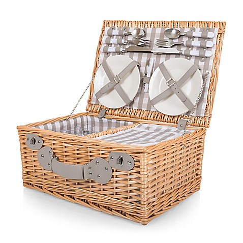 image of Picnic Time® 22-Piece Insulated Picnic Basket for 4