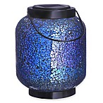 Mosaic Jar Solar Lighted Garden Décor in Blue