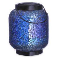 Mosaic Jar Solar Lighted Garden Décor in Blue