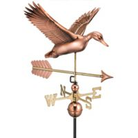 Good Directions Flying Duck with Arrow Weathervane in Copper