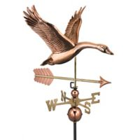 Good Directions Feathered Goose with Arrow Weathervane in Copper