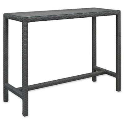 Modway Sojourn Large Outdoor Patio Bar Table In Chocolate