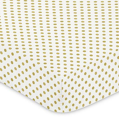 Sweet Jojo Designs Amelia Polka Dot Fitted Crib Sheet In