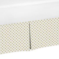 Sweet Jojo Designs Amelia Polka Dot Crib Skirt in Gold/White