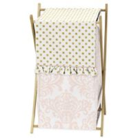 Sweet Jojo Designs Amelia Laundry Hamper in Pink/Gold