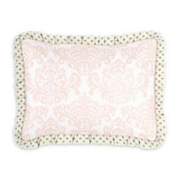 Sweet Jojo Designs Amelia Standard Pillow Sham in Pink/White