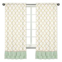 Sweet Jojo Designs Ava 84-Inch Window Panels in Gold/White (Set of 2)