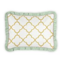 Sweet Jojo Designs Ava Standard Pillow Sham in White/Gold