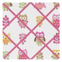 Sweet Jojo Designs Happy Owl Fabric Memo Board in Pink