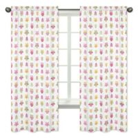 Sweet Jojo Designs Happy Owl 84-Inch Window Panels in Pink/White (Set of 2)