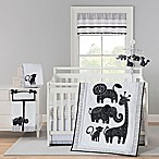 New Country Home Laugh, Giggle & Smile Silhouette Jungle 4-Piece Crib Bedding Set