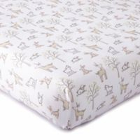 LevtexBaby® Skylar Woodland Fitted Crib Sheet in Blush