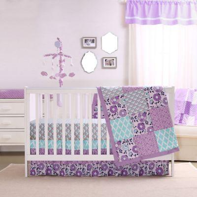 Beau Crib Bedding Sets U003e The Peanut Shell® Zoe 4 Piece Crib Bedding Set