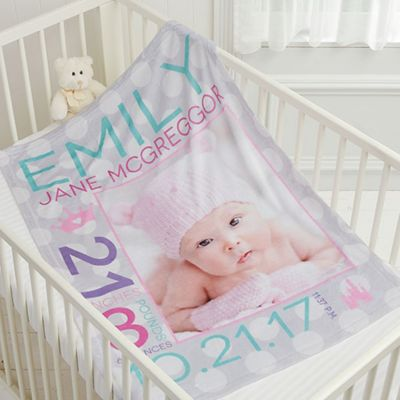 Buy photo blanket from bed bath beyond sweet baby girl fleece photo blanket negle Choice Image