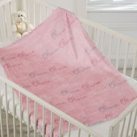 Modern Girl Name Fleece Baby Blanket
