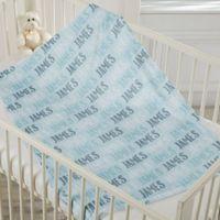 Modern Boy Name Fleece Baby Blanket