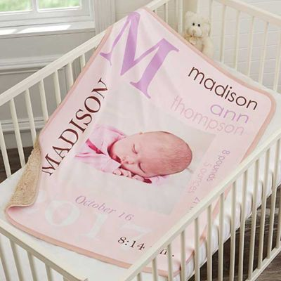 Buy photo blanket from bed bath beyond all about baby girl sherpa photo blanket negle Choice Image