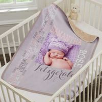 Darling Baby Girl Premium Sherpa Photo Blanket