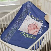 Darling Baby Boy Premium Sherpa Photo Blanket