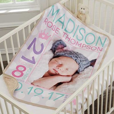 Buy photo blanket from bed bath beyond sweet baby girl premium sherpa photo blanket negle Choice Image