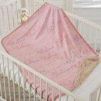 Modern Girl Name Sherpa Baby Blanket