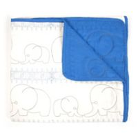 Tadpoles™ Quilted Elephant Baby Blanket in Blue
