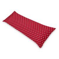 Sweet Jojo Designs Ladybug Polka Dot Body Pillowcase in Red/White