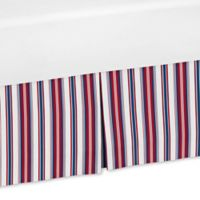 Sweet Jojo Designs Nautical Nights Stripe Crib Skirt