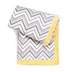 Tadpoles™ Double Plush Chevron Baby Blanket in Grey