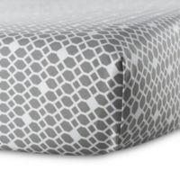 Oilo Diamond Crib Sheet in Stone