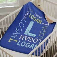 Repeating Name Personalized Woven Throw Blanket