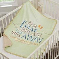 You Took Our Breath Away Premium Sherpa Baby Throw Blanket