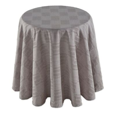 Dansk® Matera 70 Inch Round Tablecloth In Platinum
