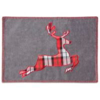 Bardwil Linens Holiday Stag Placemat in Grey