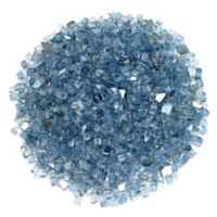 American Fireglass 0.25-Inch Reflective Fire Glass in Pacific Blue