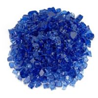 American Fireglass 10 lb. 0.5-Inch Fire Glass in Cobalt