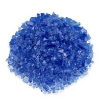 American Fireglass 10 lb. 0.25-Inch Fire Glass in Cobalt