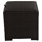 Barrington Outdoor Wicker Padded Storage Ottoman