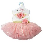 Toby™ Newborn 2-Piece Glitter Tutu and Headband Set in Pink